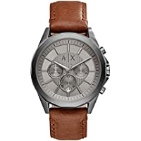 Armani Exchange Brown Leather & Stainless Steel Watch AX2605