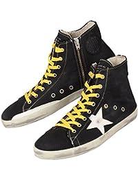 【ゴールデングース】 GOLDEN GOOSE Sneakers FRANCY ブラック 黒 フランシー メンズ スニーカー ハイカット ヴィンテージ 【並行輸入品】