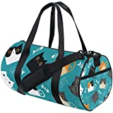 Gym Sports Bag Cute Cat Travel Duffel Bag for Men and Women