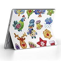 Surface go 専用スキンシール サーフェス go ノートブック ノートパソコン カバー ケース フィルム ステッカー アクセサリー 保護 クリスマス 冬 かわいい 014770