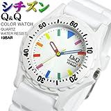 [シチズン キューアンドキュー]CITIZEN Q&Q 腕時計 メンズ レディース カラーウォッチ ウレタンベルト VP02-908  [国内正規品]