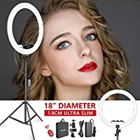 Neewer 18-inch White LED Ring Light with Light Stand Lighting Kit