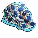 日本と韓国の甘いシルク小さな正方形のスカーフシルクシルクスカーフ韓国のシルクプロのスカーフ馬車チェーン