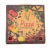 (ハッピー・ライフ)Happylife ピザボックス 店舗用品 業務用 ピザ テイクアウト 紙容器 宅配用 かわいい 100枚入 6・7インチ共用