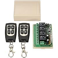 ワイヤレスリモコン スイッチ リレー コントロールスイッチ 二つRF送信機付き ワイヤレスリレーモジュール DC 1