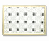 無塗装額縁付 有孔ボード白1/3サイズ(4ミリ厚x横900ミリx縦600ミリ) UKB-600900WAKU-WH 穴径5ミリ穴ピッチ25ミリ 1枚入り