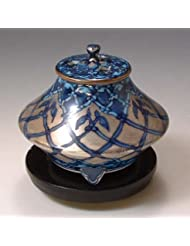 京焼 清水焼 香炉(黒台付) 銀モスク ぎんもすく YKY110