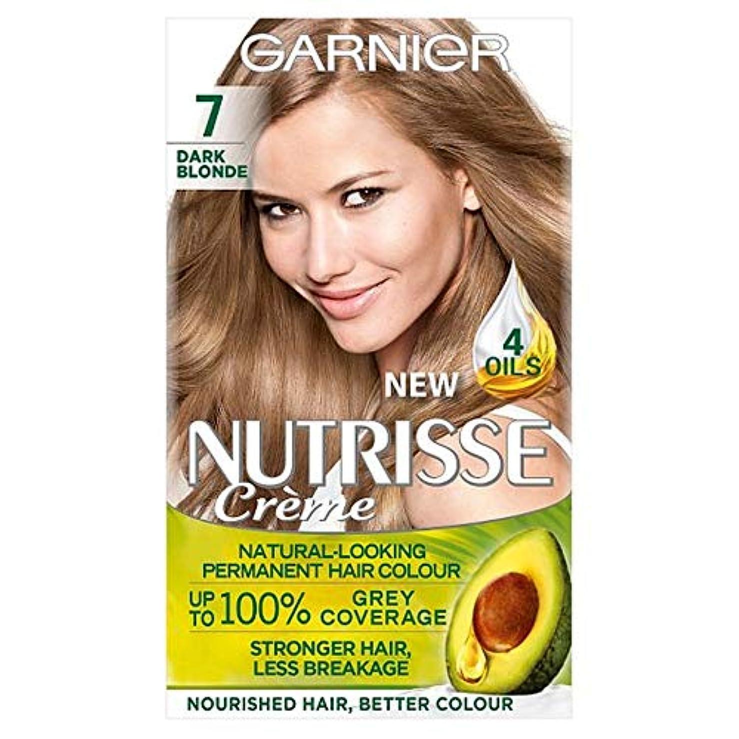 ゆりかご事故内向き[Nutrisse] ガルニエNutrisse 7ダークブロンドパーマネントヘアダイ - Garnier Nutrisse 7 Dark Blonde Permanent Hair Dye [並行輸入品]
