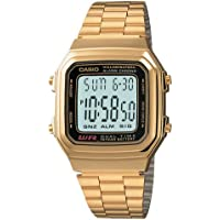 Casio A178WGA-1A Gold Tone Retro Stainless Steel Unisex Digital Watch