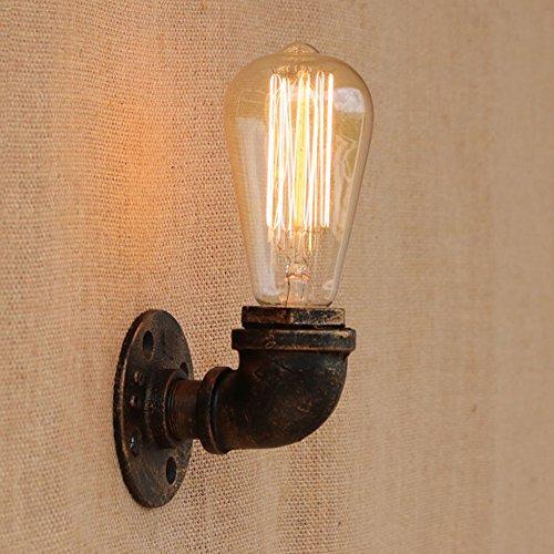 Fuloon ブラケットライト 蛇口 水道管 レトロ 照明器具 1灯 アンティーク調 レトロ おしゃれ かっこいい 壁掛け照明器具 ダイニング 食卓 リビング 居間 和室 和風 led対応 北欧 (9.5×8.5×2.8cm)