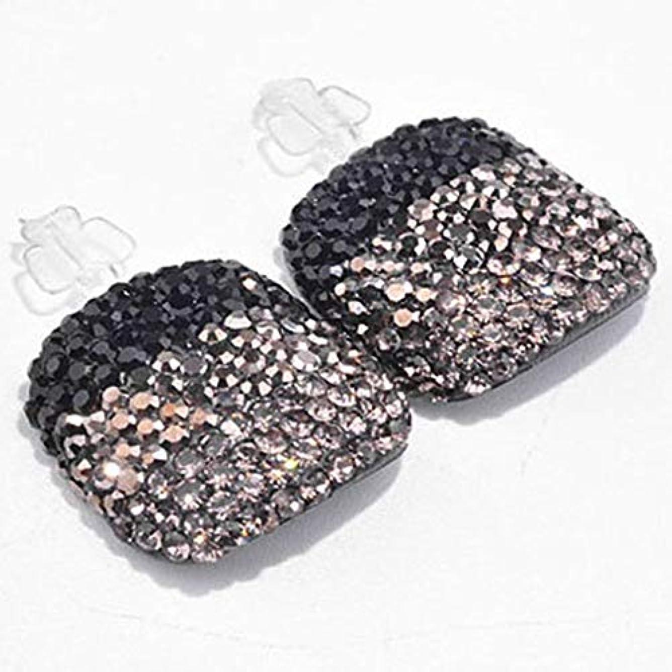 美的美容師根拠ネイルチップ 足の爪用 手作りフットネイルチップ フルラインストーン ビッグトー/ペア (38)