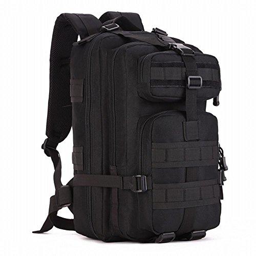 (フェニックス一輝) Phoenix Ikki 40L 大きい開口部 多彩なポケット 全6色 迷彩 防水耐震 男女兼用 多機能 リュックサック アウトドア バックパック  デイパック ブラック