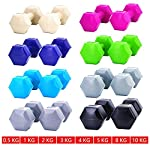 Meteor 1-10KG PVC Encased Dumbbell Pair Weights Home Gym Fitness Exercise Workout Training