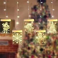 ACHICOO ストリングライト 五つ星 クリスマス装飾 壁掛け USB LEDナイトライト 3D アクリルサインライト クリスマス ハロウィーン 感謝祭 母の日 バレンタインデー パーティー ユニークな装飾 暖かい白 チャンリャンスノーマンクリスマス