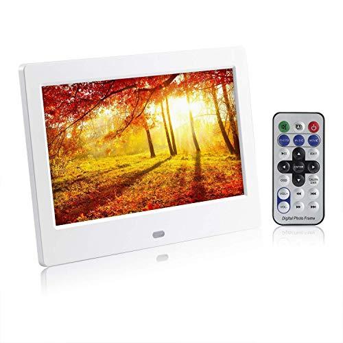 デジタルフォトフレーム 7インチ 1024*600 高解像度LEDバッグライト液晶 動画/写真/音楽再生 多機能 リモ...