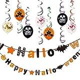 ハロウィン 豪華な飾り付けセット 22点入 ハロウィン装飾 インテリア 風船 店舗装飾 おばけ コウモリ 飾り かぼちゃ 吊り下げ