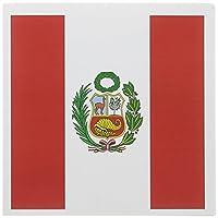 フラグ–Peru Flag–グリーティングカード Set of 12 Greeting Cards