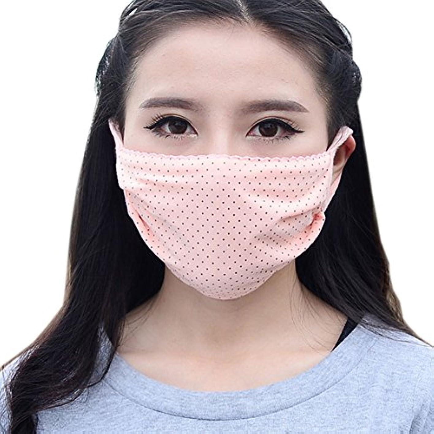 ハシー肥料電気陽性夏の薄いコットンマスク、肌色のドット