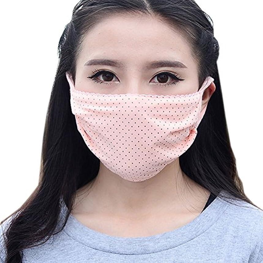 引き算回る研磨夏の薄いコットンマスク、肌色のドット
