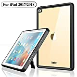 Temdan iPad 2017/2018 防水ケース 9.7インチ IP68防水規格 耐衝撃 アウトドアお風呂 海辺 スタンド ストラップ付 A1893 A1954 A1822 A1823適用 黒