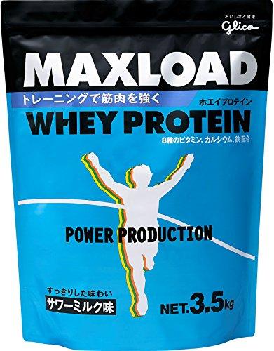 グリコ パワープロダクション マックスロード ホエイプロテイン サワーミルクアジ 3.5kg×3コ