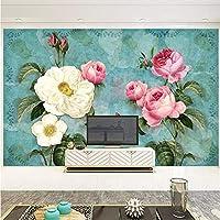 Slzlhc 3Dステレオ花写真壁画壁紙リビングルームテレビソファウェディングハウス背景壁画3D家の装飾-250X175Cm