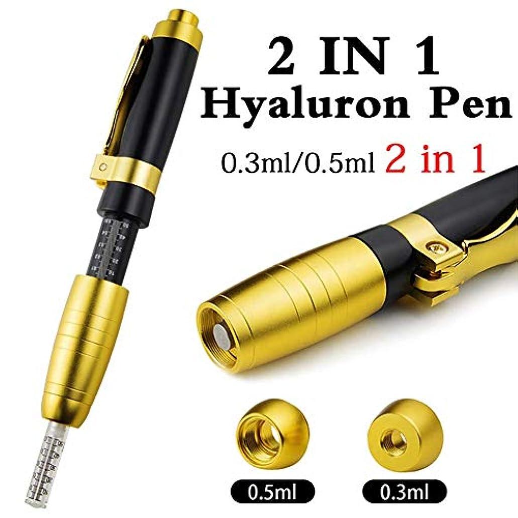 オン魅力的着替える2 in 1 2ヘッドヒアルロンペン0.3ml&0.5mlヒアルロン注射ペンヒアルロン酸注射器リップフィラー針無料注射ペン