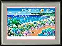 四季 (サマータイム)・A3 (29.7×42.0cm)・フレーム付き・MC画材用紙・ジクレー版画