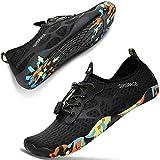 [SIXSPACE] マリンシューズ ウォーターシューズ アクアシューズ ビーチシューズ ヨガ 水陸両用 軽量 通気 男女兼用 水泳靴 スニーカー ブラック 27cm