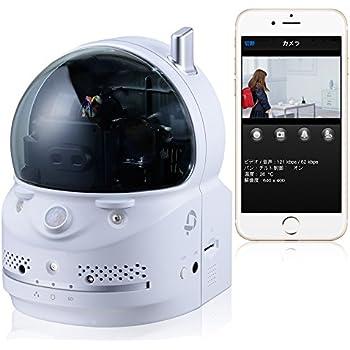 【Amazon.co.jp限定】PLANEX カメラ一発! 無線ネットワークカメラ パン・チルト(遠隔操作)/100万画素/暗視撮影/人体感知/温度計 FFP-W70HD iPhone・iPad・Android・Windows対応 (FFP)