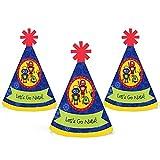 ロボット–ミニ円錐ベビーシャワーまたは誕生日パーティー帽子–スモールLittle Party Hats–10のセット