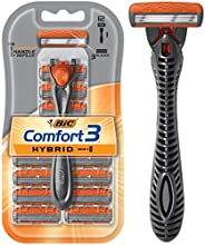 BIC Hybrid 3 Advance Men's Razors Kit - Pack of 1 Handle and 12 Cartridges