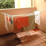 【物干し】便利な室内洗濯物干しスタンド ヨーロッパスタイルの室内物干し台 ハンガー・ピンチいらずで楽々お洗濯!『オアンス クロスドライヤー』