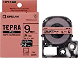 キングジム テープカートリッジ テプラPRO 9mm SB9R マット薄紅色