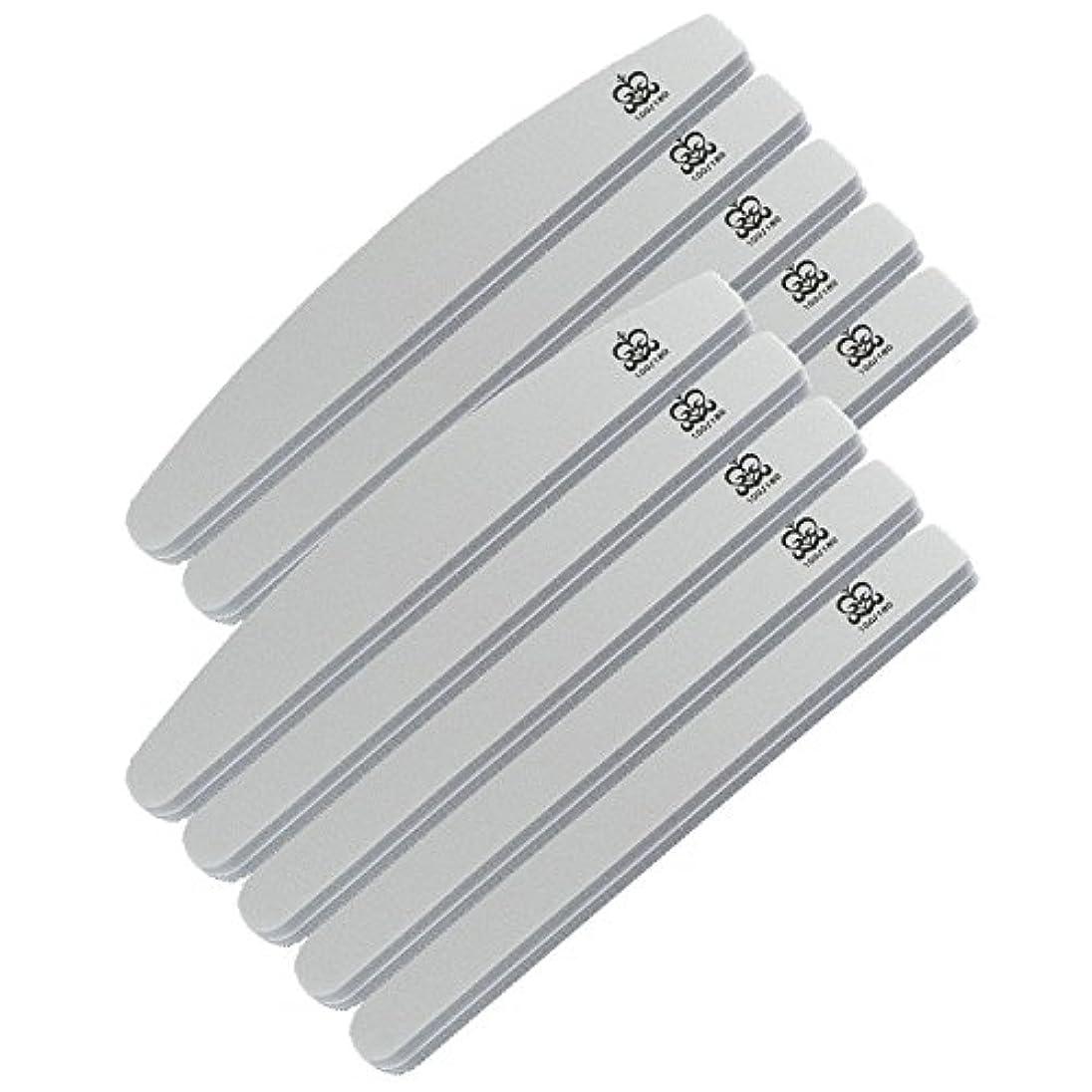 ミクレア(MICREA) ミクレア プロフェッショナルスポンジファイル バリューパック ムーン型 100/180 10本入