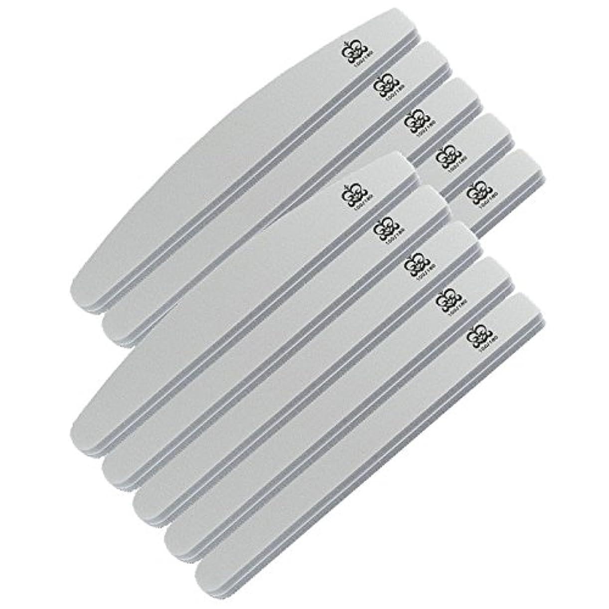 変装した応答五十ミクレア(MICREA) ミクレア プロフェッショナルスポンジファイル バリューパック ムーン型 100/180 10本入