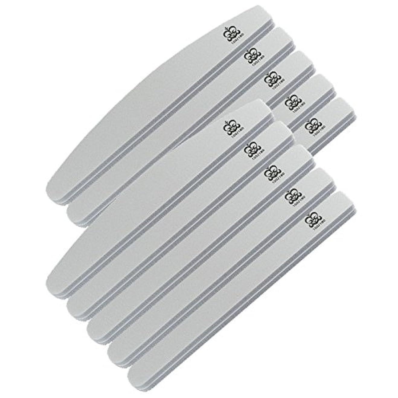 バッフルメイン緊急ミクレア(MICREA) ミクレア プロフェッショナルスポンジファイル バリューパック ムーン型 100/180 10本入