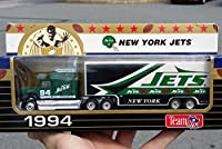 Matchbox 1994 NEW YORK JETS NFL FOOTBALL Tractor Trailer Truck in 1:87 Scale Diecast