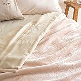 西川リビング 合せ毛布 AA1958 シングル 衿と裏地部分に綿100を使用 毛布の産地 泉州 産 日本製 46993 アイボリー[72] シングル 画像