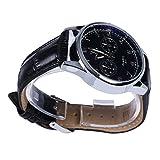 メンズ 腕時計 カジュアルスタイル ブラックレ ザーレベル 黒い文字盤