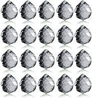 Neewer 20-Pack 1.75 inch/40mm Clear Crystal Ball Prism Pendant Suncatcher for Feng Shui/Divination or Wedding/