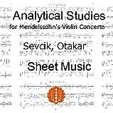 セヴシック (セブシック) 楽譜 pdf メンデルスゾーン作曲ヴァイオリン協奏曲の分析的練習