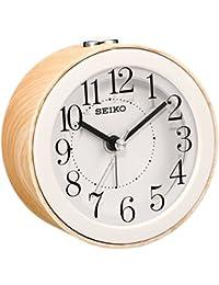 セイコー クロック 目覚まし時計 アナログ 薄茶 木目 KR504B SEIKO