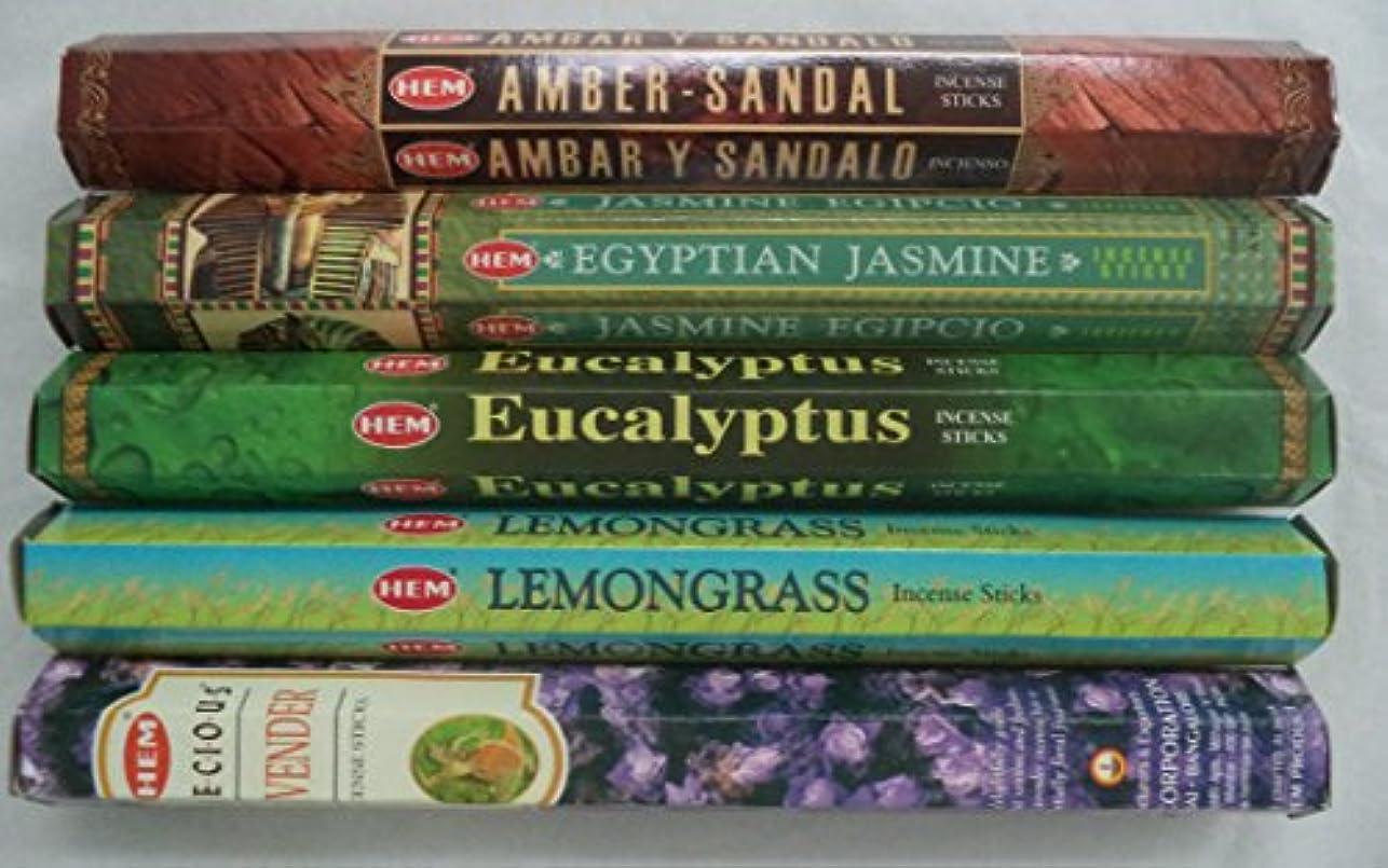 贈り物広々とした証書裾Best Seller Incense Stick Set # 2 : Top 5 x 20 = 100 Sticks一括でサンプラーrainbowrecords239
