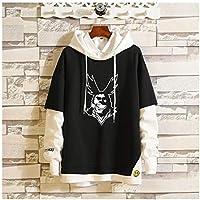 My Hero Academia Deku Hooded Sweatshirt Blouse, Long Sleeve Casual Hoodie Sweatshirt, Pullover Tops Blouse Womens Teen Girls Boys