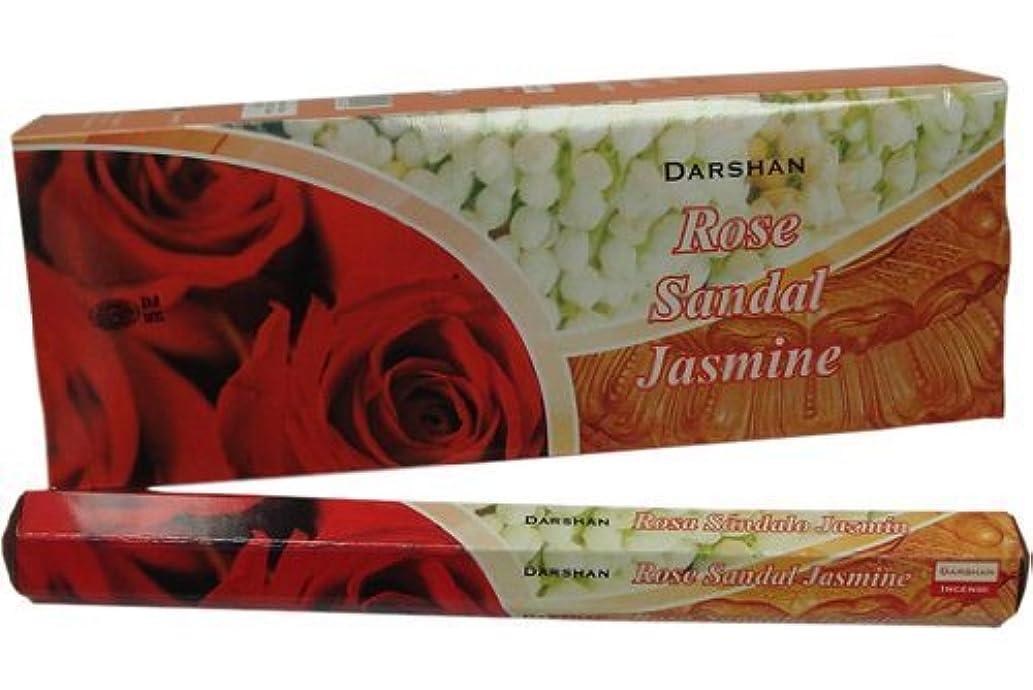 グレートオーク干渉する貝殻ローズサンダルJasmine – 120 Sticksボックス – Darshan Incense