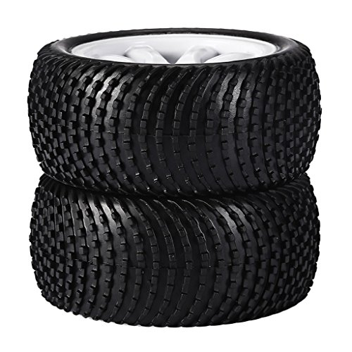 Lovoski 2個  1:10 RCオフロードカー タイヤ...