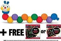 K's Kids Build an Inchworm Stacking Toy + FREE Melissa & Doug Scratch Art Mini-Pad Bundle [91794] by Melissa & Doug [並行輸入品]