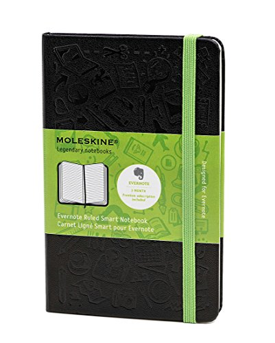 Moleskine Evernote Smart Notebook, Pocket, Ruled, Black, Hard Cover (3.5 x 5.5) (Evernote Smart Notebooks)