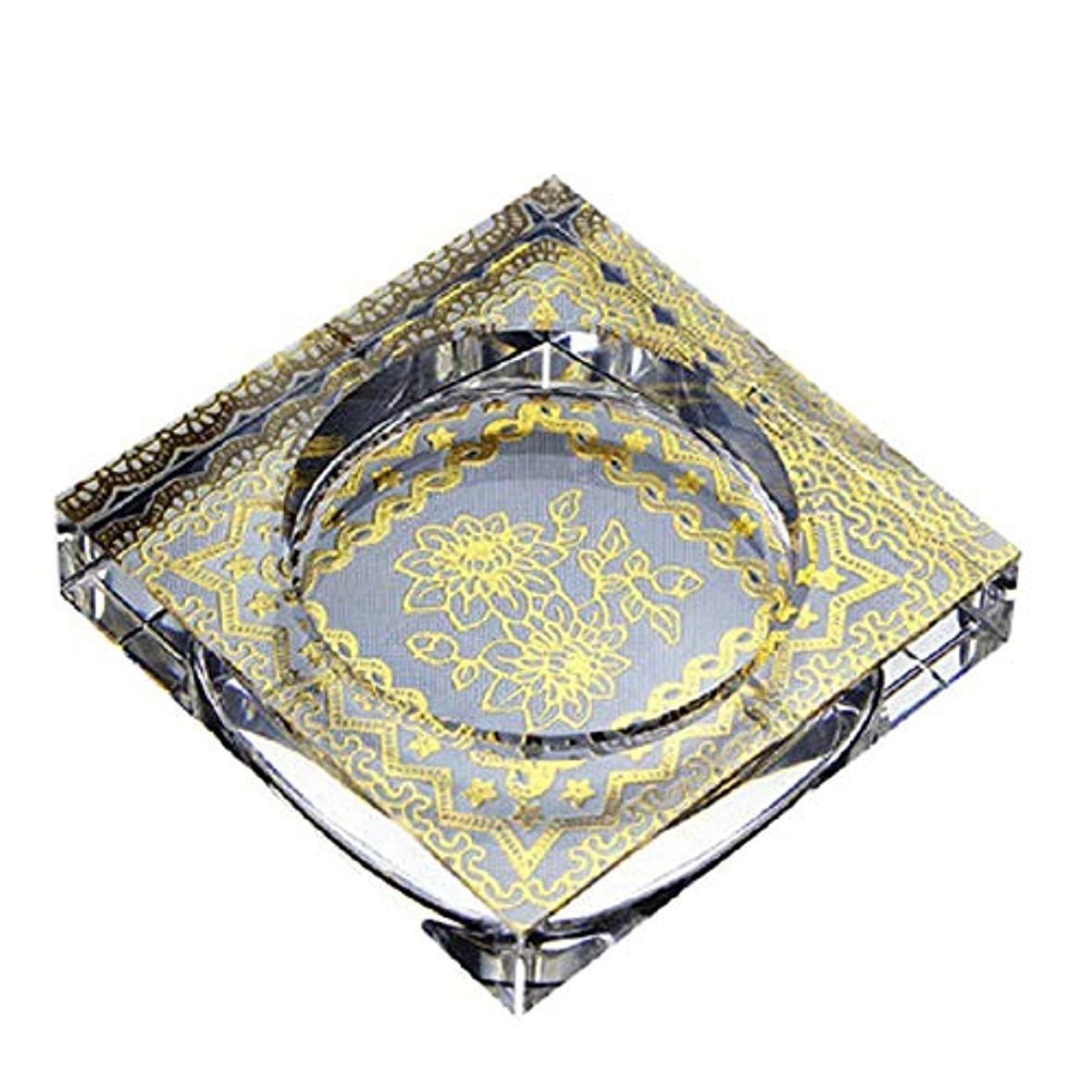 弾力性のある倉庫モトリータバコ、ギフトおよび総本店の装飾のための灰皿の円形の光沢のある水晶灰皿